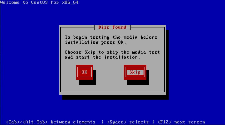 CentOS 6 Install, CD Check