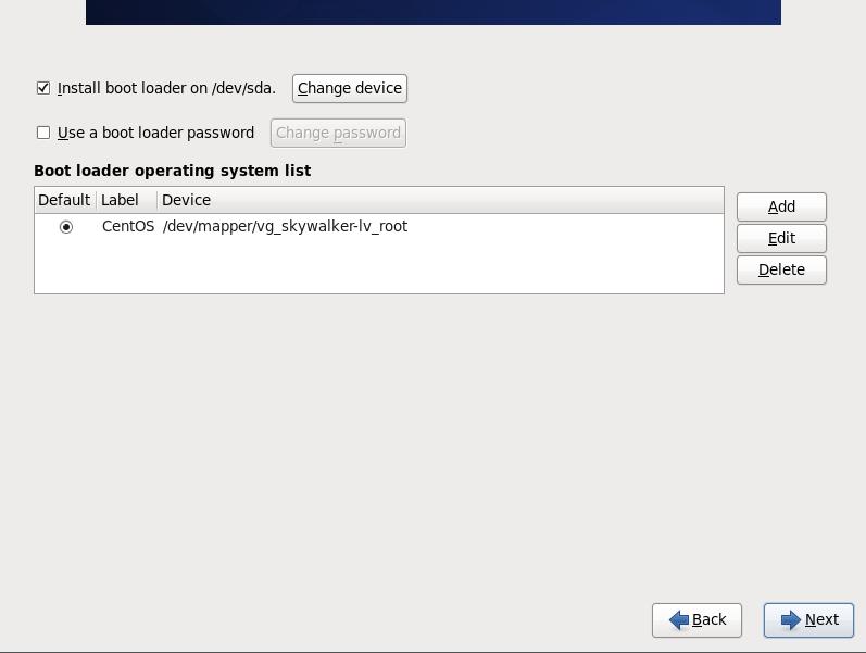CentOS 6 boot loader passwd