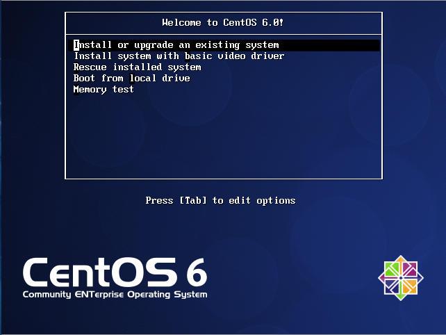 CentOS 6 Boot Screen