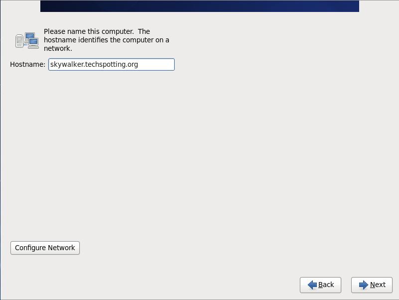 CentOS 6, set hostname