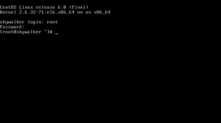CentOS 6 root login