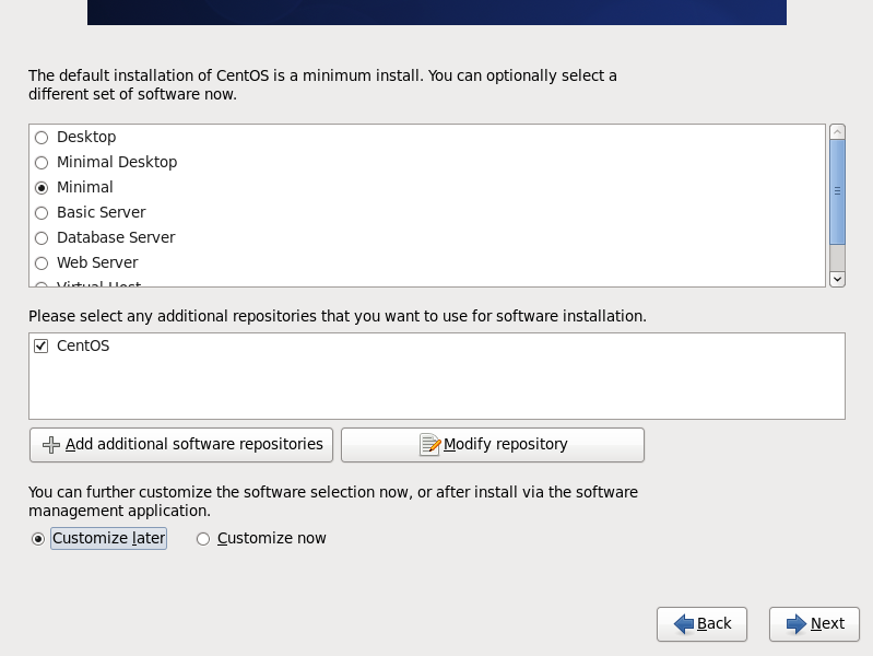 CentOS 6 minimal install