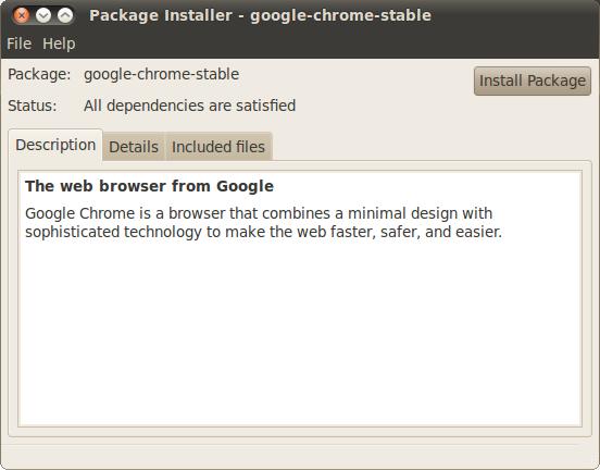 Install Google Chrome  .dpkg Ubuntu