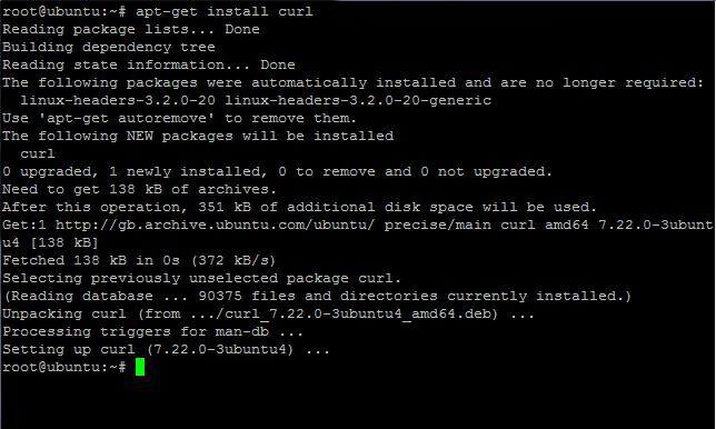 Ubuntu install cURL