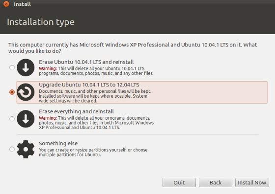 Upgrade Ubuntu 10.04 to 12.04 from CD or DVD